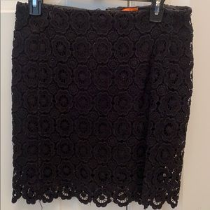 JOE Black Eyelet Skirt, Size 2